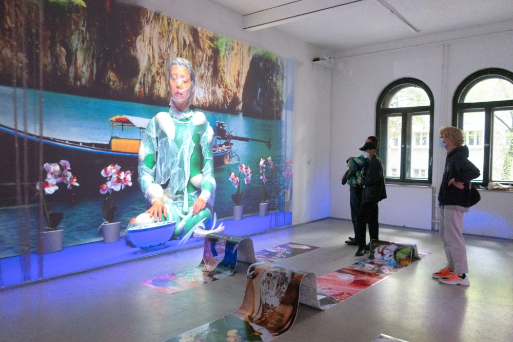 Hien Hoang. Asia Bistro - Made in Rice. Installation view at Frappant Gallery Hamburg, 2021.