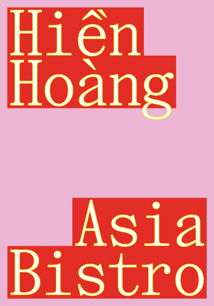 """Cover of the photo book """"Asia Bistro"""" by Hien Hoang. Designed by Julika Hother. The book is short-listed at Kassel Dummy Award 2022, part of the photo book festival Kassel 2022, Germany."""